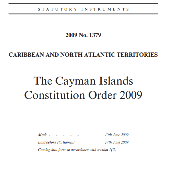 The Cayman Islands Constitution 2009
